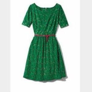 Cynthia Rowley green lace dress like new